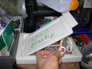 We recycle small plastic doohickeys. Why not?