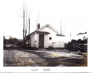 This house, seen here in 1969, burnt down 10 years ago. It was about 40 years old and could have lasted...forever!
